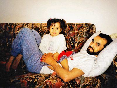 Lakhdar and his younger daughter